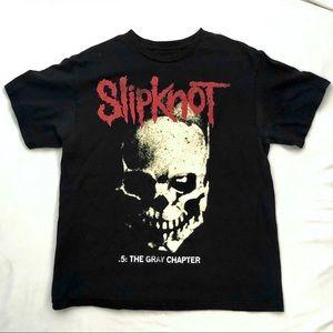 Slipknot the gray chapter black graphic tee sz. L